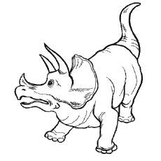 triceratops dinosaur free printable coloring page