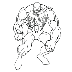 Attractive Venom Villain Coloring Pages To Print