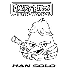 Star Wars Han Solo  with Gun to Color