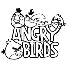 Angry Birds Title Poster Coloring Image