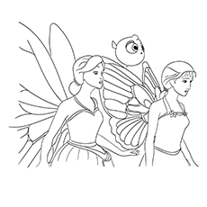 Barbie Mariposa And Fairytale Coloring Page Printable