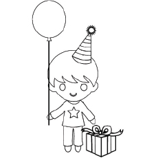 Happy Birthday Boy Coloring Page