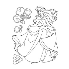 Princess Barbie Dancing Coloring Page