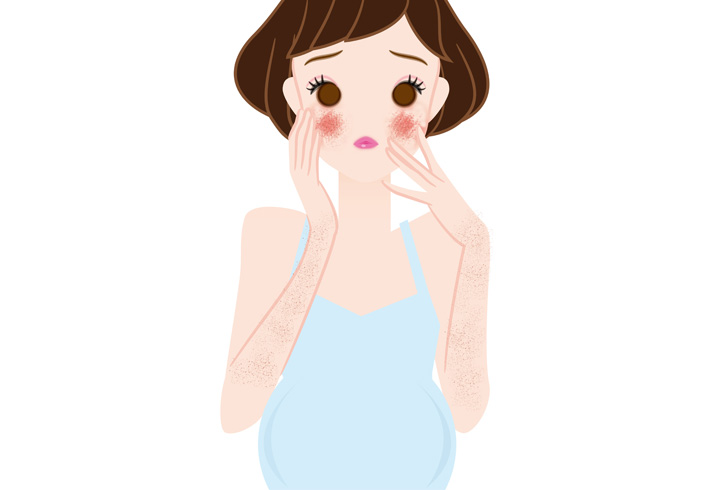 what causes skin rashes during pregnancy