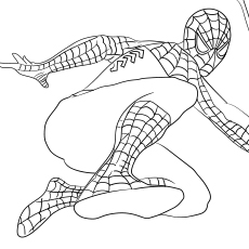 Spider Man Homecoming Series for Kids to Color