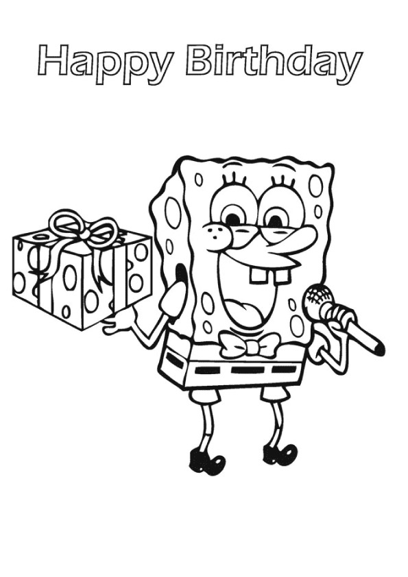 spongebob-with-birthday-gift