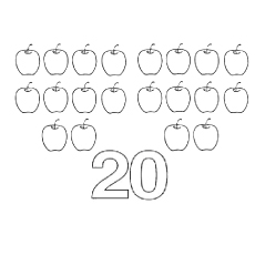 20 Smiling Apples Color