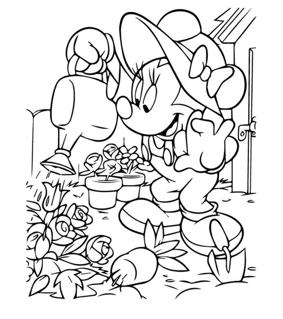 It is an image of Critical Printable Minnie Mouse Coloring Pages