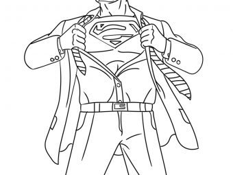 30 Simple Superman Coloring Pages Your Toddler Will Love