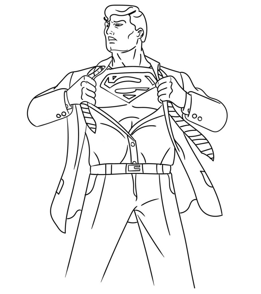 This is an image of Exceptional Superman Coloring Pages Printable