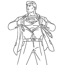 changing in a superman coloring pages