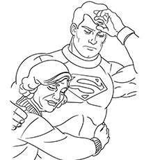 Grandma Hugs Superman Coloring Pages