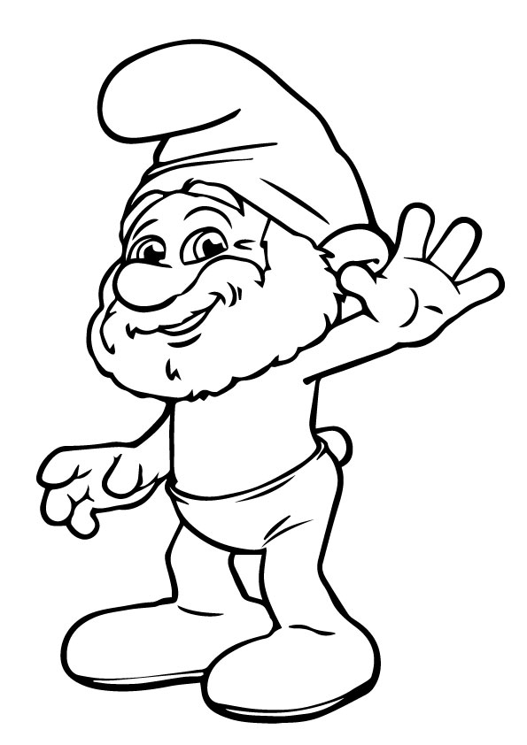 A-Papa-Smurf-Coloring-Pages