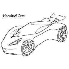 A Printable Hot Wheels Coloring