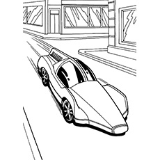 A Printable Hot Wheels colouring