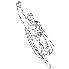 Superman Flying Coloring Pages