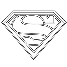 Printable Superman Logo Coloring Pages