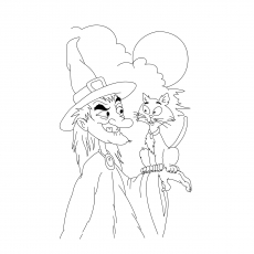 A Witch And Her Cat1