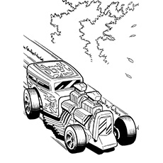 ahot wheels a printable hot wheels coloring