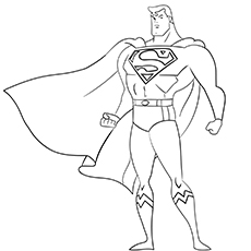 a superman sty coloring page