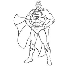 A Superman Smile Coloring Page
