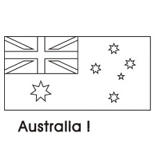 australia flag - Flag Coloring Pages