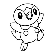 piplup pokemon coloring pages - Pokemon Coloring Pages Free