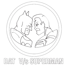 Batman Vs Superman Coloring Pages