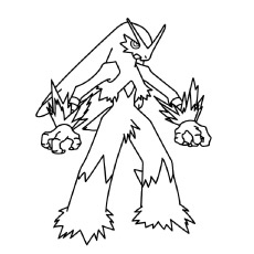coloring pages of character blaziken from pokemon - Pokemon Coloring Pages Free