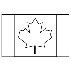 picture of canada flag to color
