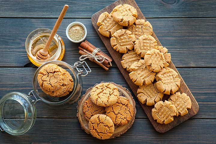 Candy bar and peanut butter cookies