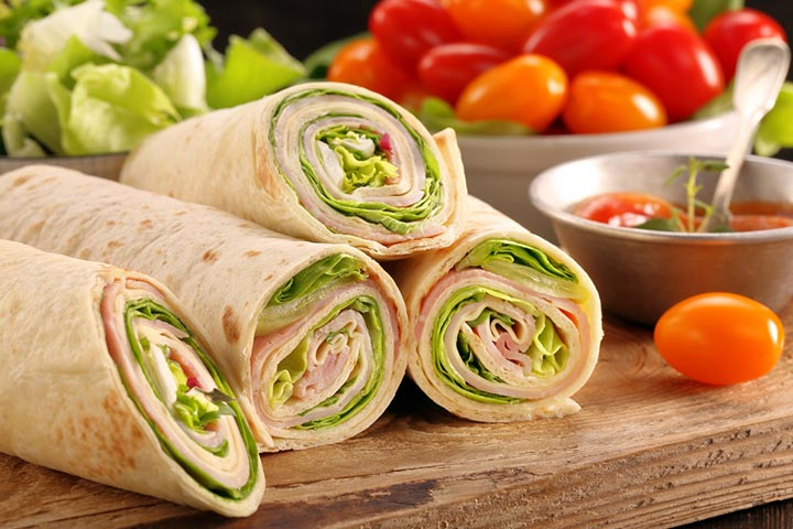 Cheese single vegetable wrap