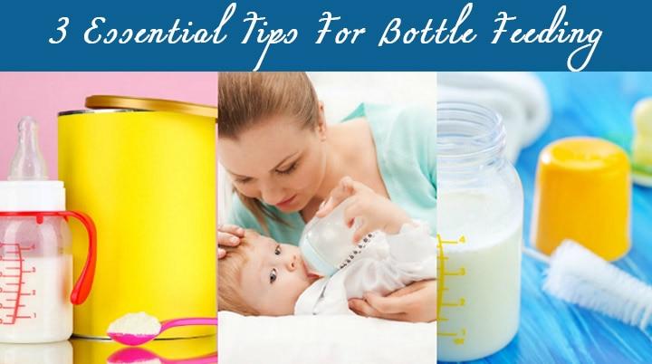 3 essential tips for bottle feeding