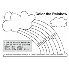 Rainbow Coloring Pages - Free Printables - MomJunction