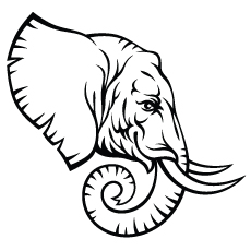 Elephant Head Coloring Pages