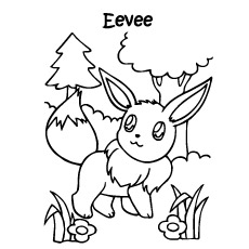 pokemon eevee evolution character coloring pages - Coloring Page Pokemon