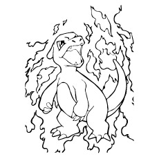 fiery one pokemon charmeleon coloring pages