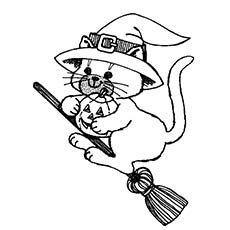 Halloween cat coloring pages to print | Free halloween coloring ... | 230x230