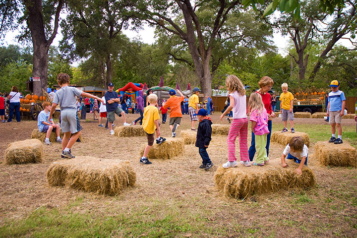 Hay bale obstacle course