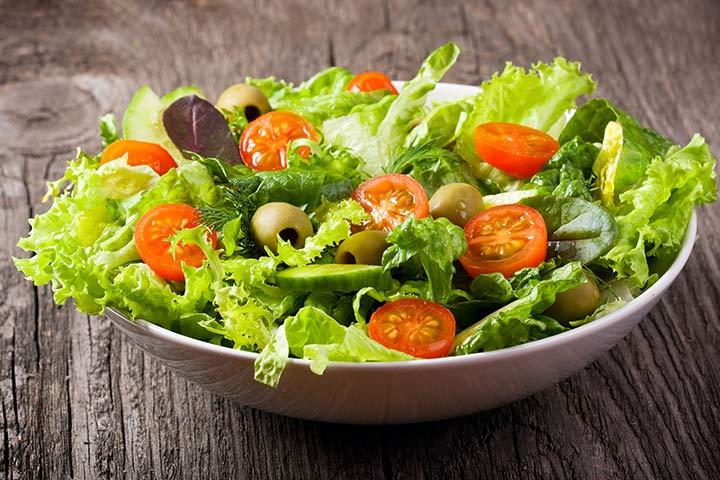 High-fiber vegetable salad