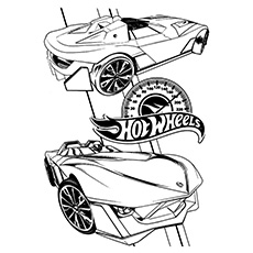 Hotwheels-coloring speed meter