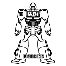 iron hide coloring pages of transformers