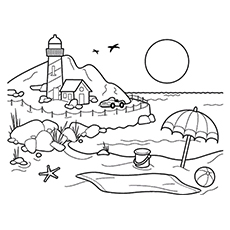 Beach Coloring Pages : 20 Free Printable Sheets to Color | Coloring Pages Of Beach  | title