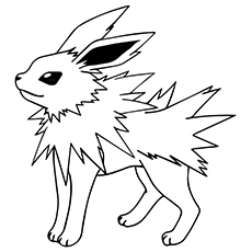 Jolteon Character Coloring Pages