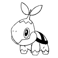 Awesome Cute Turtwig Of Pokemon Coloring Pages To Print