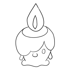 Litwick Pokemon coloring images
