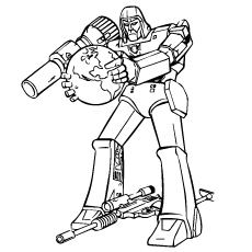 coloring pages of transformer lone fighter - Transformers Coloring Pages