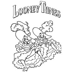 Looney Tunes Daffy Duck and Bugs Bunny Coloring Pages