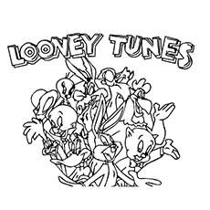 Poster of Looney Tunes Coloring Pages Printable