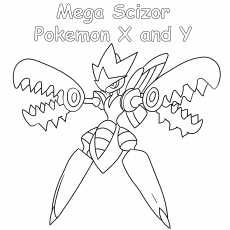 Mega Scizor Pokemon x and y
